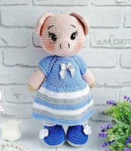 Cube Piggy Pig Amigurumi Pattern | 297x258